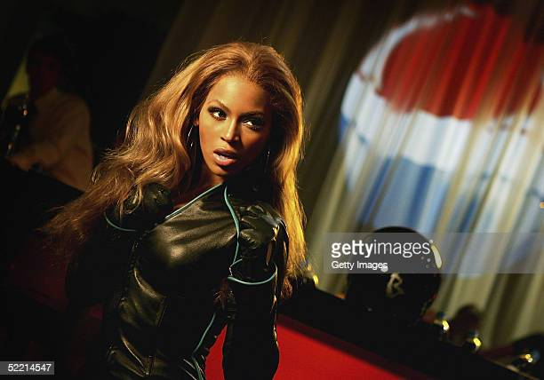 In this still released on February 16 Beyonce Knowles poses during the filming of a new Pepsi advertisement Set in the mystical underworld of Hong...