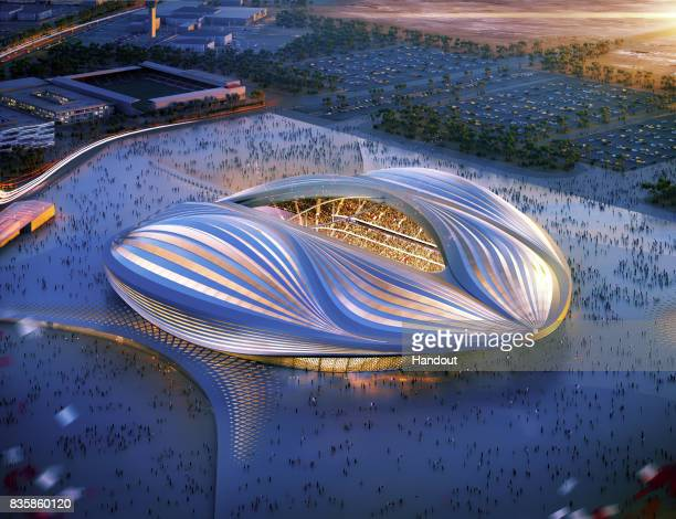 In this undated computer-generated artists impression provided by 2022 Supreme Committee for Delivery and Legacy, the Al Wakrah stadium, a Qatar 2022...
