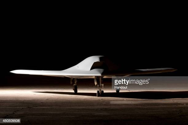 In this undated handout image supplied by Dassault Aviation on June 12 The nEUROn, an Unmanned Combat Air Vehicle at the Dassault Aviation aerial...