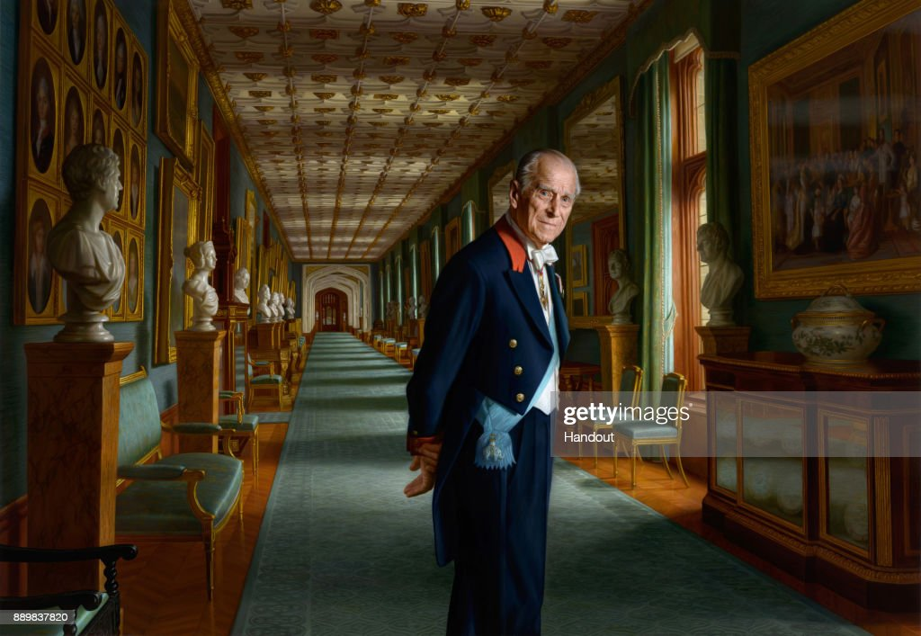 Prince Philip, Duke of Edinburgh Painting Released As He Retires From Public Engagements : News Photo