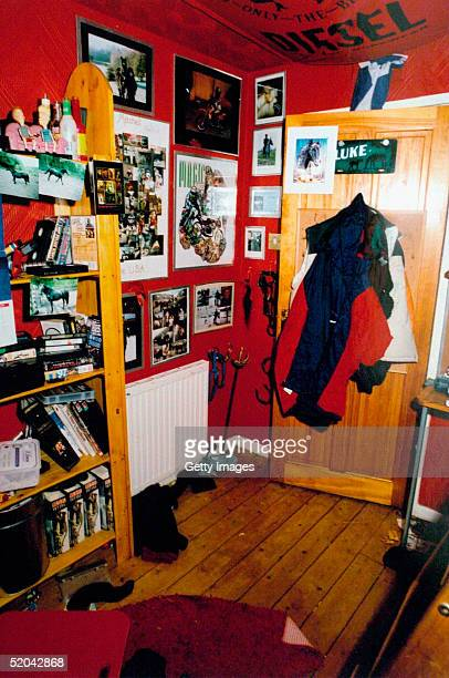 In this undated handout issued by Lothian and Borders Police the bedroom of Luke Mitchell is seen. Luke Mitchell the former boyfriend of the...