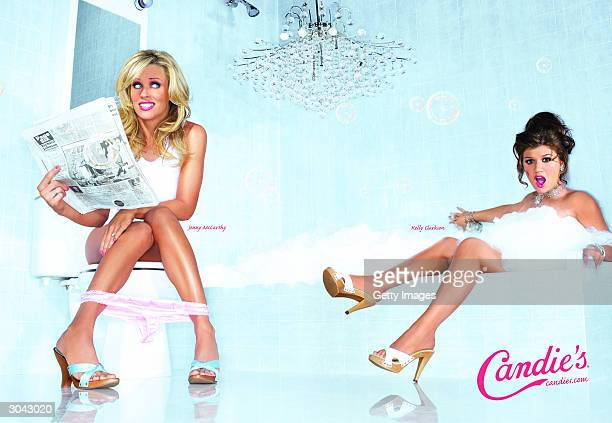 UNDATED In this undated handout photo actress Jenny McCarthy and American Idol winner Kelly Clarkson pose for a new advertising campaign for Candie's...