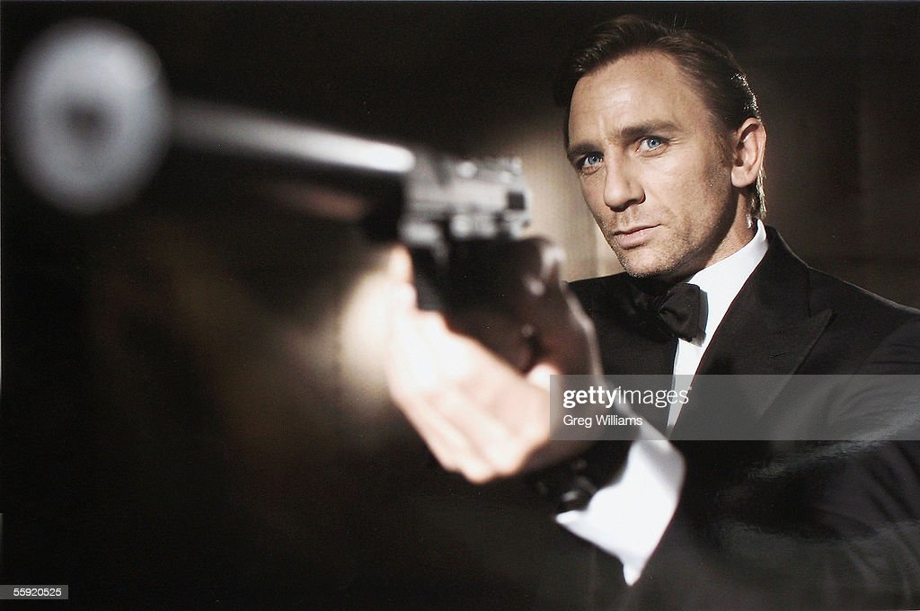 In this undated handout photo from Eon Productions, actor Daniel Craig poses as James Bond. Craig was unveiled as legendary British secret agent James Bond 007 in the 21st Bond film Casino Royale, at HMS President, St Katharine's Way on October 14, 2005 in London, England.