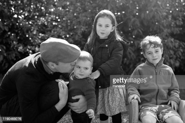 In this undated handout photo issued on December 25, 2019 by Kensington Palace and taken by Catherine, Duchess of Cambridge, Prince William, Duke of...