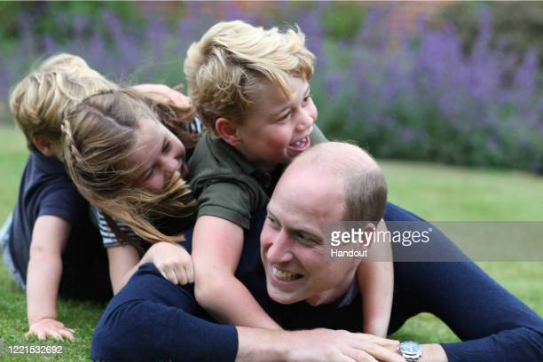 In this undated handout photo issued on June 20 2020 by Kensington Palace and taken by Catherine Duchess of Cambridge earlier this month The Duke of...