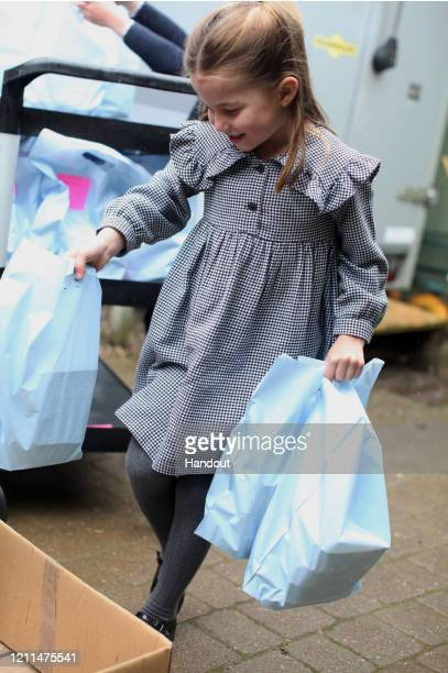 In this undated handout photo issued on May 1 2020 by Kensington Palace and taken in April on the Sandringham Estate by her mother Catherine Duchess...