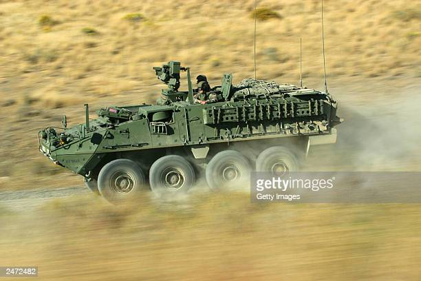 In this undated handout photo provided by General Dynamics soldiers drive a US Army Stryker vehicle According to news sources September 8 recent...