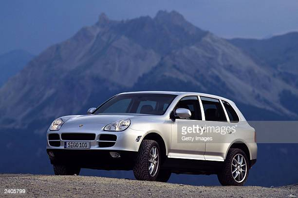 In this undated handout photo provided by Porsche AG a Porsche Cayenne car is shown Porsche announced August 15 2003 a sales increase in July 2003 of...
