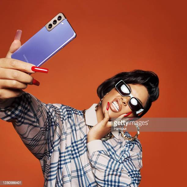 In this undated handout photo provided by Samsung, International photographer Rankin creates a collection of portraits and social content shot...