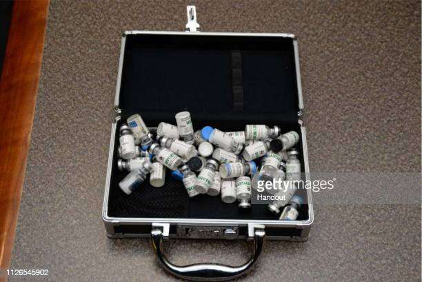 In this undated handout photo provided by US Attorney's Office for the District of Maryland some of the drugs federal agents say they found in...