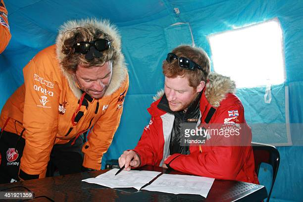 NOVO ANTARCTICA In this undated handout photo provided by Walking with the Wounded on November 23 Prince Harry patron of Team UK in the Virgin Money...
