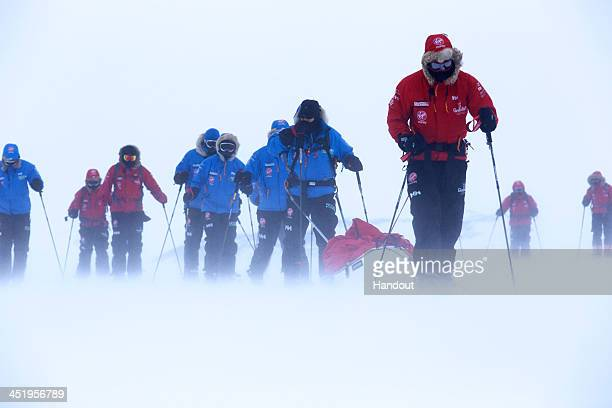 NOVO ANTARCTICA In this undated handout photo provided by Walking with the Wounded on November 25 Prince Harry patron of Team UK in the Virgin Money...