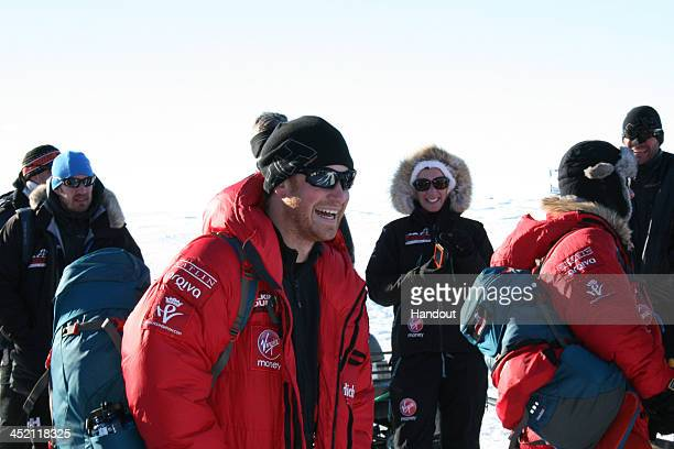 NOVO ANTARCTICA In this undated handout photo provided by Walking with the Wounded on November 26 Prince Harry patron of Team UK in the Virgin Money...
