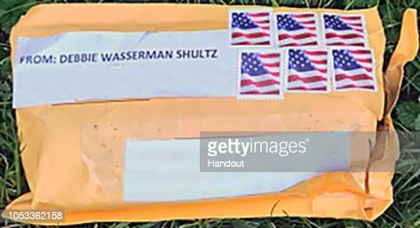 In this undated handout photo supplied by the Federal Bureau of Investigation one of the package bombs that had been sent to many critics of...