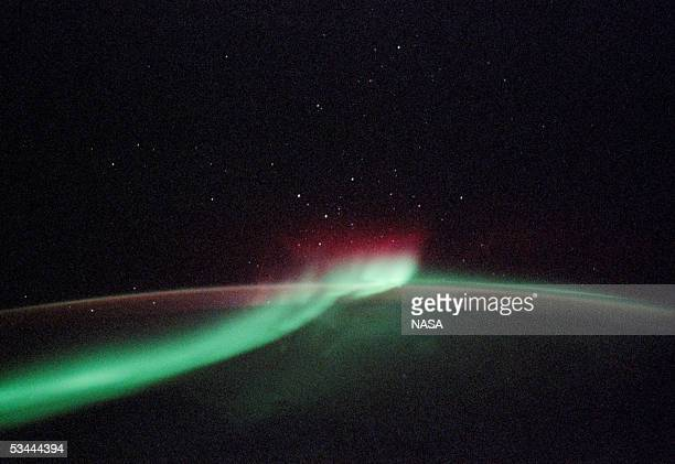 "In this undated handout photo the Aurora Australis or ""southern lights"" are seen from the Space Shuttle Discovery during the STS-114 mission."