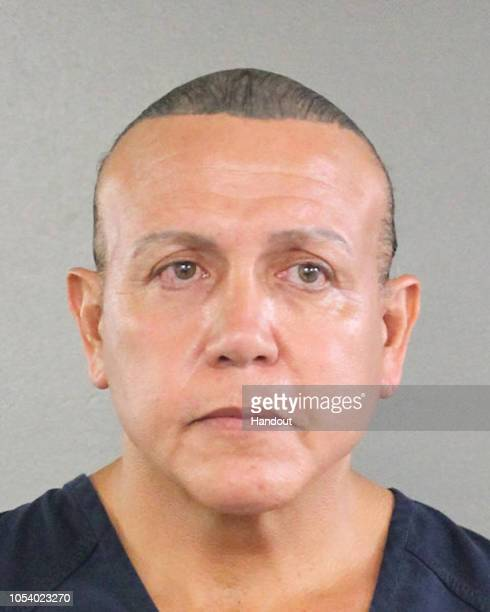 In this undated handout provided by the Broward County Sheriff's Office Cesar Sayoc poses for a mugshot photo in Miami Florida Mr Sayoc was arrested...