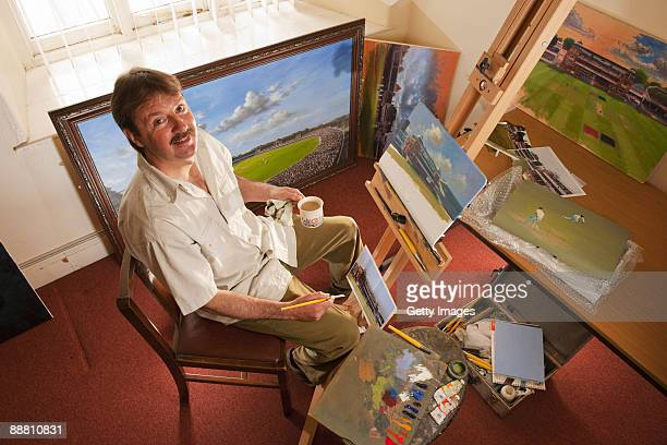 In this undated image released by BSkyB on July 3 painter and former cricketer Jack Russell poses as BSkyB launch the exclusive SkyHD box collection...