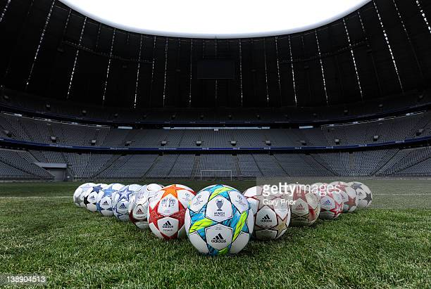 In this undated photo adidas and UEFA launch the 2012 UEFA Champions League Final official match ball at Allianz Arena on February 13 2012 in Munich...
