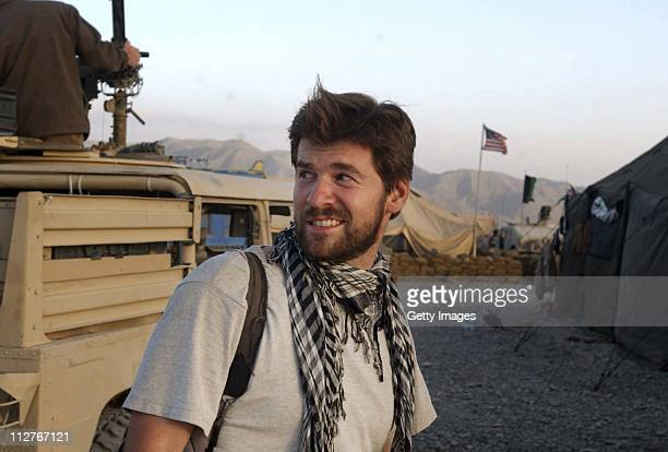 In this undated photo Getty Images photographer Chris Hondros is seen in Afghanistan Hondros who was on assignment in Misrata Libya was killed on...