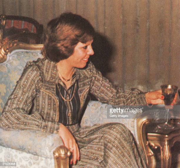 In this undated photo Saddam Hussein's first wife Sajida is seen at home