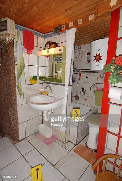 In this undated Police handout image provided by Security Administration of Lower Austria a hidden bathroom at the house and hiding place where a...