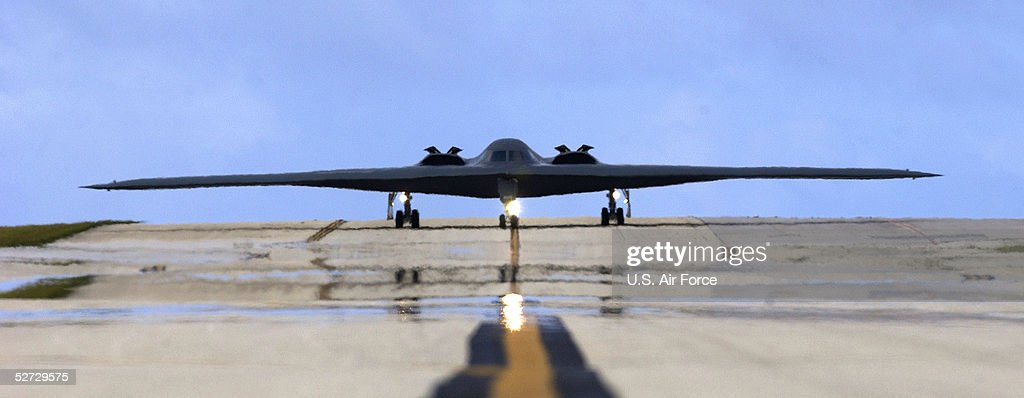 Stealth Bomber Taxis On Runway : News Photo