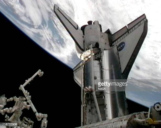 In this video screen grab provided by the National Aeronautics and Space Administration , the payload bay of NASA space shuttle Atlantis after it...