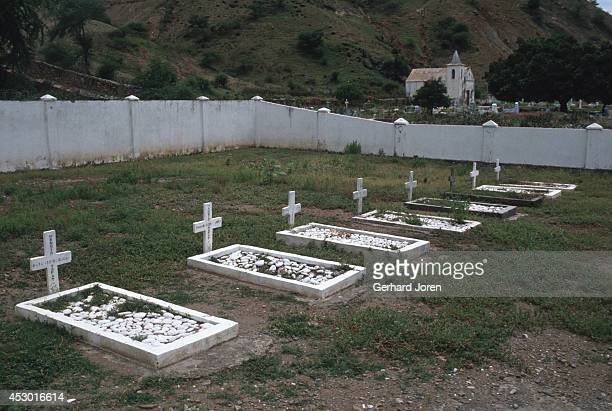 In this village located 40 km east of the capital Dili Indonesian soldiers have their own cemetery