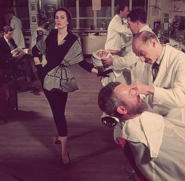 Woman At Barber's