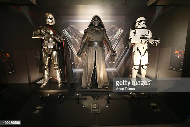 In Toronto on December 3, 2015 Replica's on display of Star Wars character's that will be in the new Star Wars film : The Force Awakens . The Star...