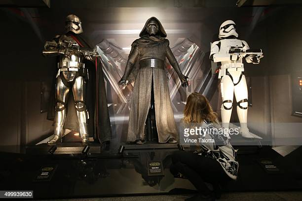 TORONTO ON DECEMBER 3 in Toronto on December 3 2015 Replica's on display of Star Wars character's that will be in the new Star Wars film The Force...