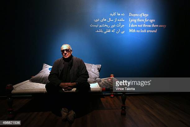 TORONTO ON NOVEMBER 17 in Toronto on November 17 2015 Celebrated Iranian filmmaker Abbas Kiarostami poses for pictures at his installation piece...