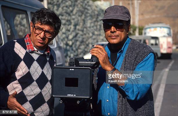 TORONTO ON NOVEMBER 17 in Toronto on November 17 2015 Celebrated Iranian filmmaker Abbas Kiarostami poses for pictures at his installation piece...