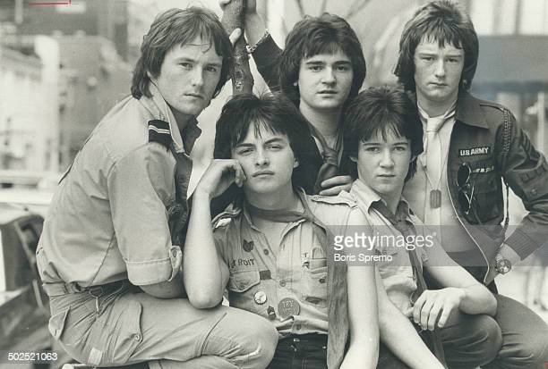 In Toronto yesterday to talk to Peter Goddard about his new career former Bay City Roller Ian Mitchell introduced members of his new band Rosetta...