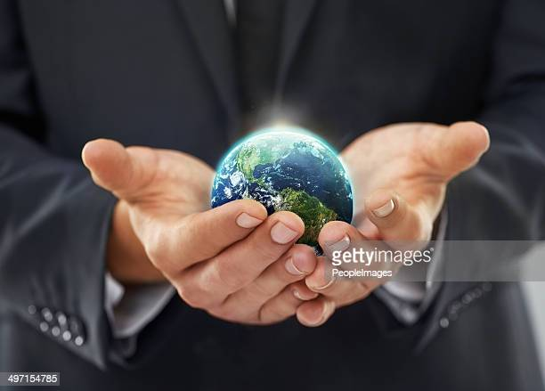 in touch with the world - responsible business stock photos and pictures