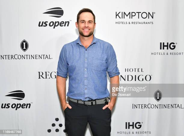 "In town for the US Open Andy Roddick walks the red carpet at the IHG ""Legends Unmatched"" soiree at the Kimpton Hotel Eventi on August 21 2019 in New..."