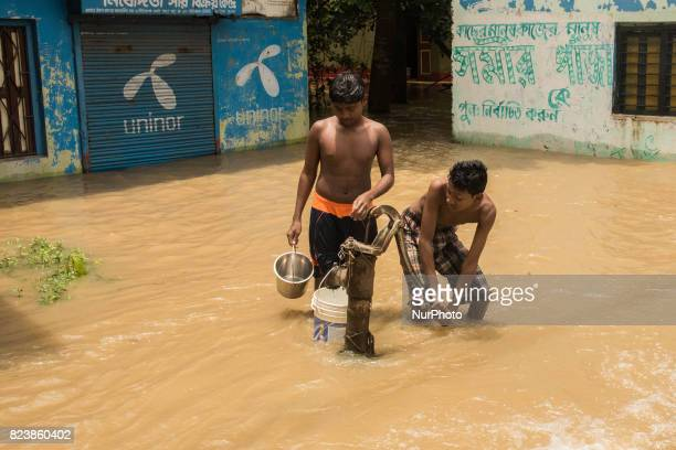In udaynarayanpur except one tubewell all the drinking water sources are gone underwater which is causing a great trouble to the...