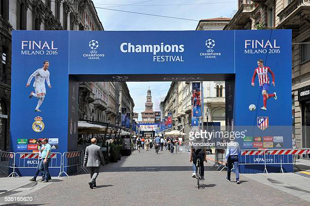 In Via Dante in Milan the Walk of Champions settled for the UEFA Champions League Final between Real Madrid and Atltico Madrid which will be held on...