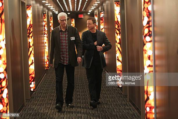 In Vino Veritas DB Russell and Mac Taylor walk through the hotel in this scene in the first of a twopart episode on CSI CRIME SCENE INVESTIGATION...