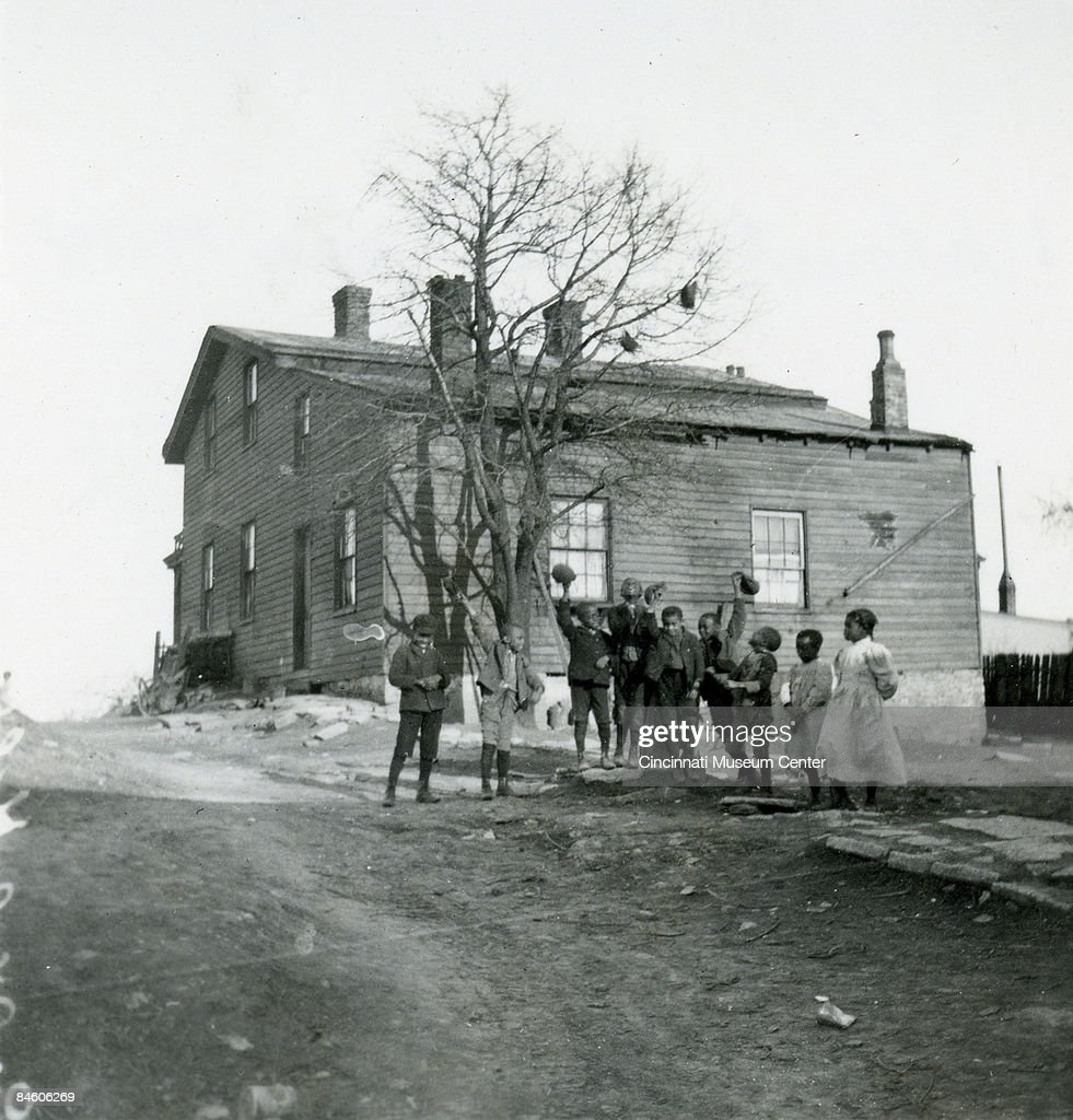 In Walnut Hills is pictured the home of the American Quaker and abolitionist Levi Coffin (1798 - 1877). Located in Cincinnati, it functioned as a stop on the Underground Railroad; the photo was taken ca.1905.