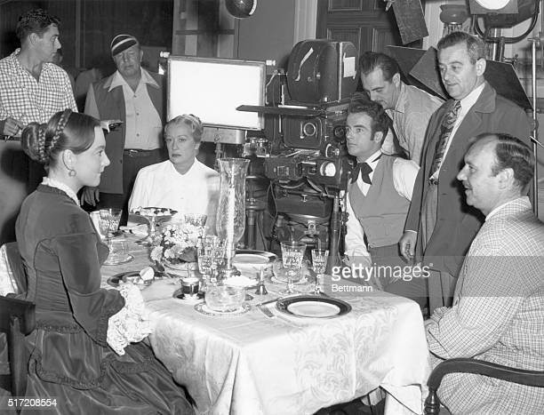 In William Wyler's The Heiress movie audiences will see only this closeup of Olivia de Havilland at a dinner table But the scene was not that simple...