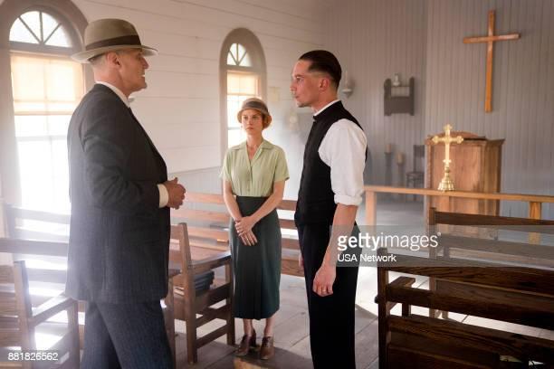 DAMNATION 'In Wyoming Fashion' Episode 106 Pictured Christopher Heyerdahl as Don Berryman Sarah Jones as Amelia Davenport Killian Scott as Seth...