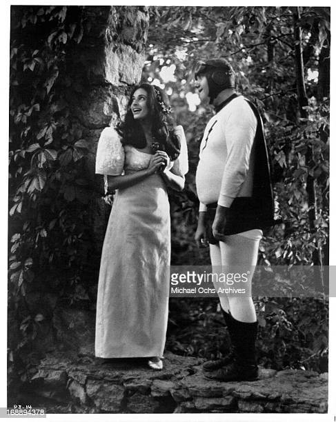 Ina Balin and Chuck McCann in a scene from the film 'The Projectionist' 1971