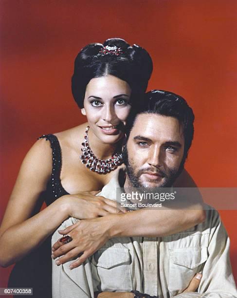 Ina Balin and Elvis Presley promoting Charro