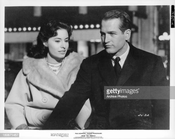 Ina Balin out with Paul Newman in a scene from the film 'From The Terrace' 1960