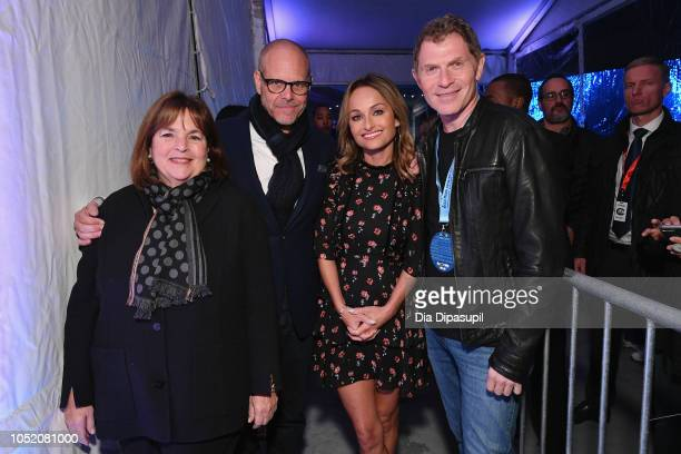 Ina Garten Alton Brown Giada De Laurentiis and Bobby Flay attend the Food Network's rooftop birthday party hosted by Alton Brown Giada De Laurentiis...