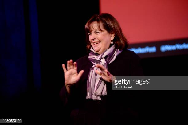 Ina Garten speaks onstage during a talk with Helen Rosner at the 2019 New Yorker Festival on October 12 2019 in New York City