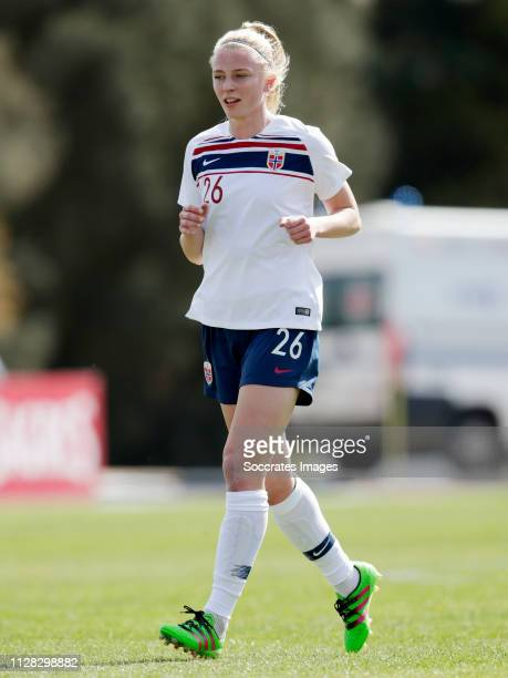 Ina Gausdal of Norway Women during the Algarve Cup Women match between China PR v Norway at the Estadio Municipal de Albufeira on March 1, 2019 in...