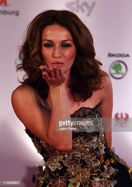 Ina Menzer arrives for the Herbert Award 2011 Gala at the Elysee Hotel on May 23 2011 in Hamburg Germany