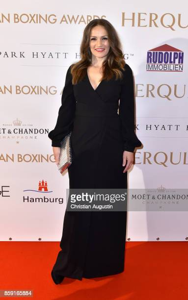 Ina Menzer attends the German Boxing Award 'Herqul' at the Besenbinderhof on October 8 2017 in Hamburg Germany